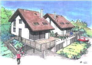 Sud ouest- Vue Lac - Calme ,7½ pièces - 200 m² Habitable,Terrain de 660 m²,Cube SIA 1060 m³,Garage + Parkings,Finitions au choix...